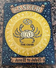 VINTAGE CANCER Kitchen Wall Plaque/Sign Wood Horoscope Zodiac BY YORKRAFT INC