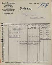 BÜNDE i. W., Rechnung 1926, Zigarren-Fabriken Ernst Spengemann G.m.b.H.