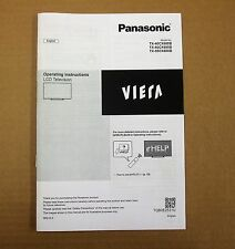 Panasonic Genuine TV Op'ing Instructions TX-40CX680B TX-50CX680B & 55 TQB0E2531U