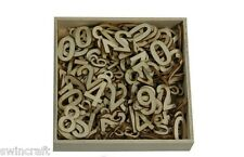 Craft Emotions BOX OF WOODEN SHAPES ORNAMENTS BASIC NUMBERS LARGE & SMALL 0289