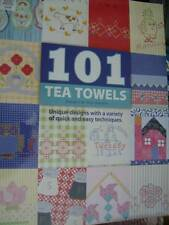 101 Tea Towels Craft Book- Boerens, Quilting, Cross Stitch, Embroidery, Applique