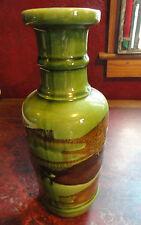 Eames Era Royal Haeger Earth Wrap Modernist Vase - Unusual Avocado Green Glaze