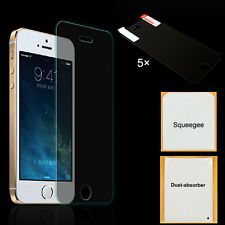 5x CLEAR  Front Screen Protector Film Guard Cover Suit  For iPhone 5 5c 5s