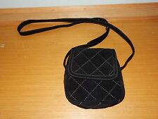 VERA BRADLEY BLACK QUILTED SMALL FLAP CROSSBODY BAG PURSE NICE!