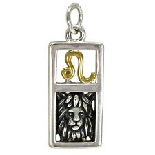 Leo Lion Sign Sterling Silver Zodiac Pendant Charm Astrology Gold Plated Jewelry