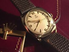 Vintage Rare Rolex Tudor Solid Gold Cushion Watch Sunburst Dial