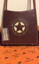 Country Road Western Purse Brown Star Series Bling Pistol Pocket Nwt