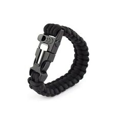 1 pc Tactical Outdoor Survival Bracelet Flint Fire Scraper Sport Equipment SOL