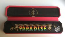 AUTHENTIC JUICY COUTURE GOLD TONE PARADISE CHARM BRACELET. 6JRY7
