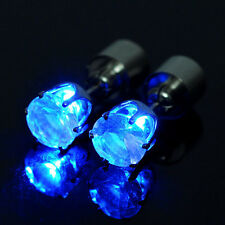 halloween Party 1 Pair LED Light Up Earrings Ear Studs XMAS Dance Club Glow Gift