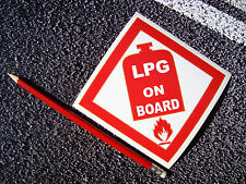 LPG Warning Sticker Decal 11cm Caravan motorhome Works Van HEALTH & SAFETY Gas