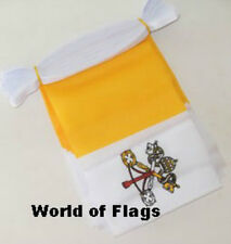 VATICAN CITY BUNTING Rome Papal Flag 9m 30 Fabric Party Flags Italy Italian