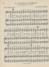 VTG COLLEGE OF CITY OF NEW YORK song sheet - 'St. NICHOLAS TERRACE' CCNY C 1938