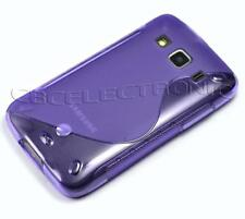 New Purple Skidproof Gel skin case cover for Samsung S5690 Galaxy Xcover