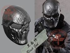 Cosplay Game Airsoft Paintball Metal Mesh Eye Protect Full Face M06 Mask Skull