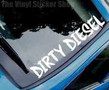 DIRTY DIESEL Funny Novelty TDI Car/Van/Windscreen/Back Window Sticker - Large