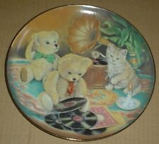 Franklin Mint Collectors Plate Teddy Bear MUSIC HOUR