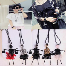Beads Bag Dress Girl Doll Necklace Pendant Love Elegant Chain Trendy Necklaces