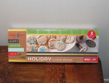 Nordicware Holiday Cookie Stamps Christmas Cookie Stamps Aluminum & Wood