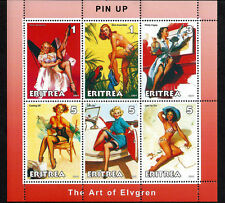 2001 Pin Up Art of Gil Elvgren –  6 Stamp Sheet 5A-026