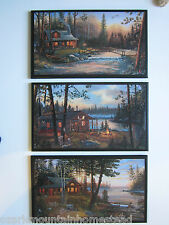 Log Cabins Signs rustic country lodge wall decor plaques hunting cabin pictures