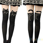 SEXY WOMEN CAT TAIL GIPSY MOCK KNEE HIGH HOSIERY PANTYHOSE TATTOO TIGHTS B8BK