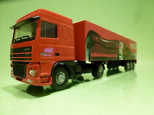 LION CAR DAF 95 XF 480 TRUCK + TRAILER - COCA COLA 1:50 - EXCELLENT CONDITION
