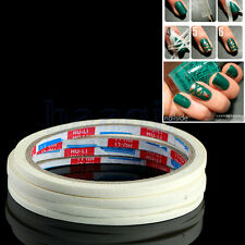 2 X 17m Rouleaux Ongle Striping Bande Tape Nail Art Tips Sticker Blanc 0.5m HG