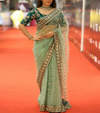 Indian Bollywood Designer Saree With Blouse Piece