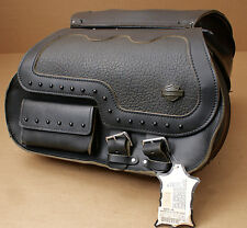 HARLEY ORIGINALE SELLA borsa saddlebag SIDE CASES Pack Borsa HERITAGE SOFTAIL