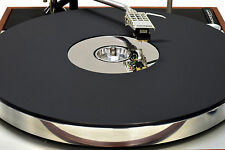 Matt Black & Mirror Acrylic Turntable Platter Mat. THORENS w/ 45 adapter.
