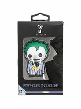 DC Comics The Joker Earbuds Googly Eye Headphones And Holder New in Gift Box