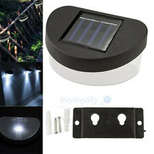 New Solar Power Powered Door Fence Wall Lights Led Outdoor Garden Shed Lighting