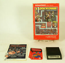 Vintage Boxed Intellivision Game Lock N Chase Tested & Working