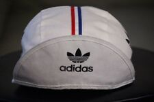 vtg Adidas white cycling hat Tour de France