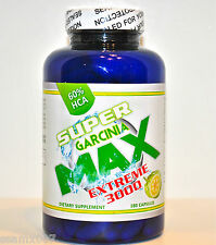 100% Pure Garcinia Cambogia SUPER MAX EXTREME 3000mg Weight Loss 60% HCA