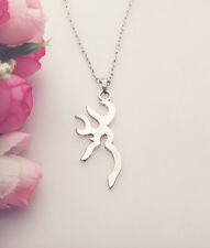 new 1pcs Silver plated of Browning Deer Necklace  Fashion Jewelry