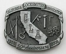 Vintage Locksmith Belt Buckle Award California Tool Key Locks CLA Union Old