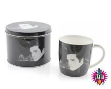 ELVIS PRESLEY THE KING  COFFEE MUG  CUP NEW IN PRESENTATION GIFT TIN