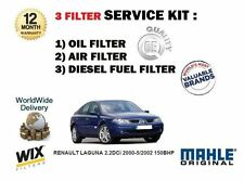 FOR RENAULT LAGUNA 2.2DCi 2000-5/2002  150BHP OIL AIR FUEL  FILTER SERVICE KIT
