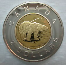 2003 CANADA TOONIE PROOF SILVER WITH GOLD PLATE TWO DOLLAR COIN