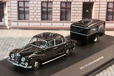 Schuco 02045 BMW 502 mit Bestattungsanhänger 1/1000
