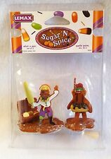 Lemax Sugar N Spice Gingerbread Figurines Halloween Pirate Diver 2 pc Retired