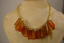 ESTATE Vintage CELLULOID Chain and BAKELITE Charm  Choker Necklace