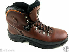 Timberland ACT Brown Leather Hiking Boots Size 9 US.
