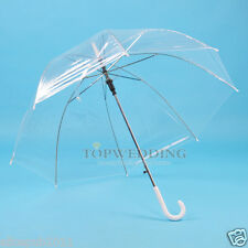 New Transparent Clear Rain Umbrella Parasol PVC Dome for Wedding Party Favor