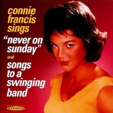 Never on Sunday/Songs to a Swinging Band by Connie Francis (CD, Jan-2012, NEW