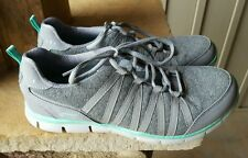 Skechers Gray Aqua 8.5 Women's Tennis Shoes Comfort Shoes Memory Foam