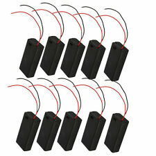 10Pcs 2 AA 2A Cells Battery 3V Clip Holder Box Case With Switch Black Cover DIY