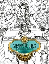 Steampunk Girls Adult Colouring Book Creative Manga Comic Women Fashion 1 sided